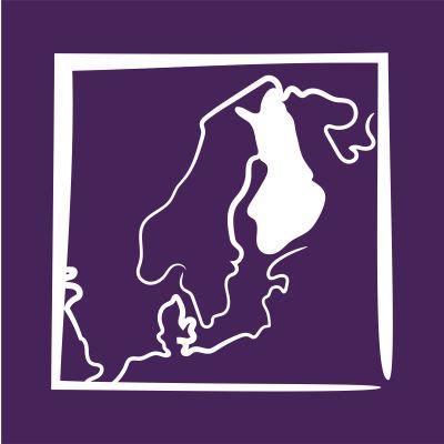 Piiroskuva Euroopan kartasta, jossa Suomi korostettuna.