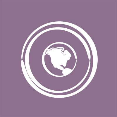 Piirroskuva maapallosta, jonka ympärillä kaksi rengasta.