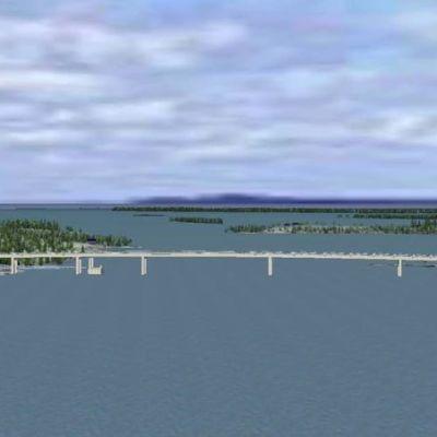 Havainnekuva jännevirran sillasta