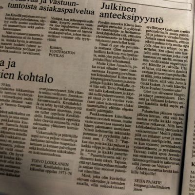 Seija Pajatien kirjoitus Koti-Karjala -lehdessä 2.7.2014.