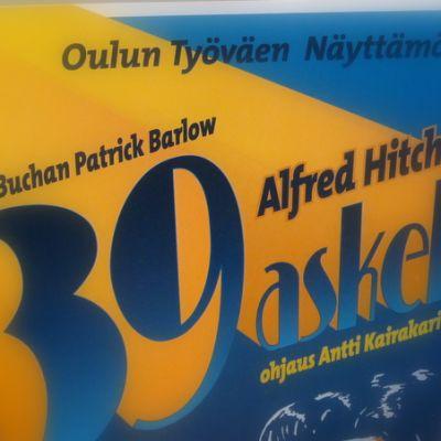 Oulun Työväen näyttämö: 39 askelta mainos