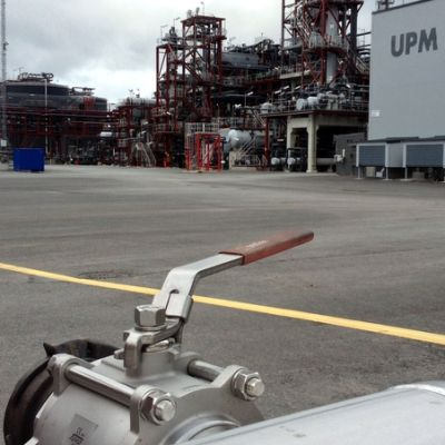 UPM:n Lappeenrannan biojalostamo.