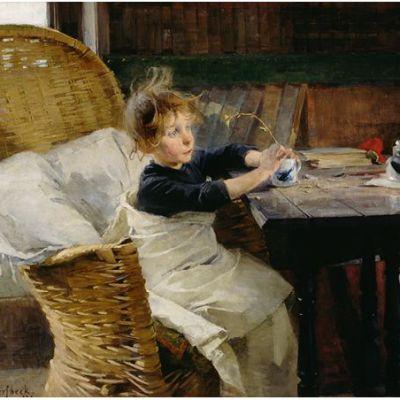 Helene Schjerfbeck: Toipilas (1888).