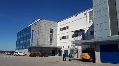 Kontorsdelen vid Nautor i Jakobstad