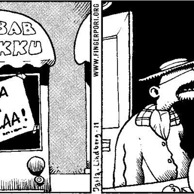Pertti Jarlan piirtämä sarjakuva