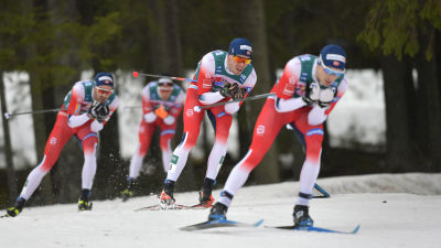 Norska herrar i täten av den andra etappen av Ski Tour 2020.