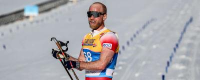 Martin Johnsrud Sundby efter målgången på 15 km klassiskt i Seefeld.