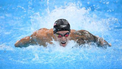 Caeleb Dressel ui 100 metrin perhosuinnissa ME:n.