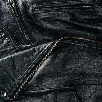 Närbild på läder.