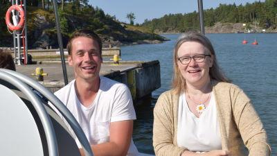 SFP:aren Henrik Wickström och De Grönas Elina Ahde.