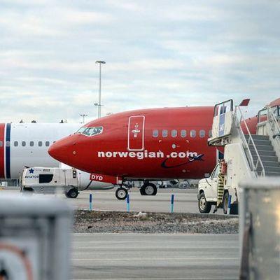 Norwegian lentokoneita Arlandan kentällä.