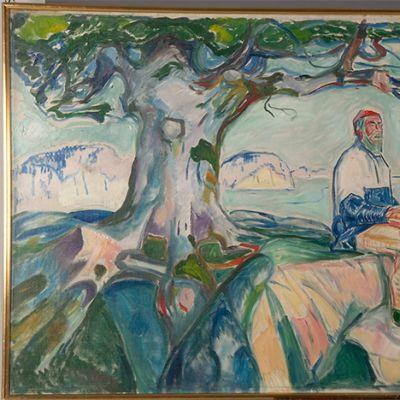 Edvard Muchin maalaus Historien.