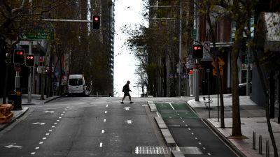 En tom gata i Sydney.