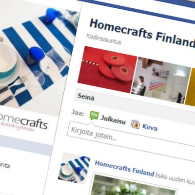 Homecrafts Finlandin facebook-sivu.