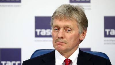 Kremls talesman Dmitrij Peskov i  Moskva den 11 mars 2021.