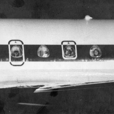 Det kapade flygplanet på Helsingfors-Vanda flygfält 1978.