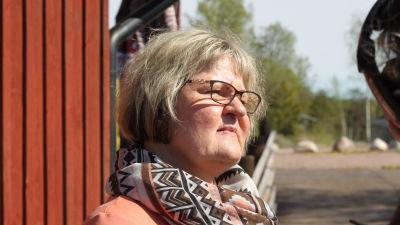 Kimitoönsutvecklingschef Gilla Granberg på Kalkholmen