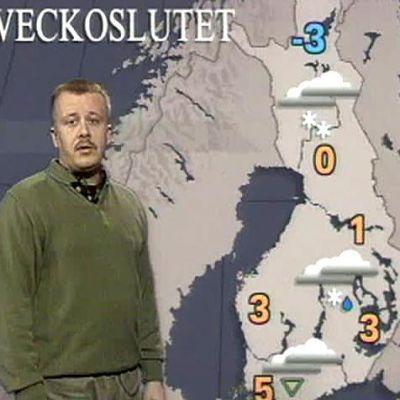 Juha Föhr berättar om vädret.