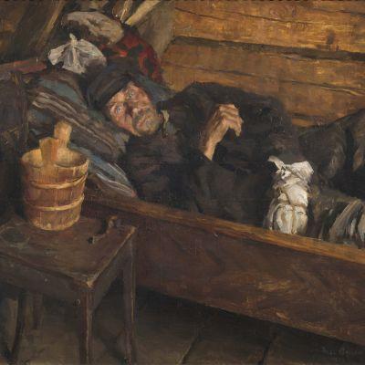 Akseli Gallen-Kallelas oljemålning Sårfeber.