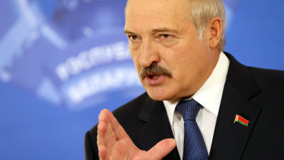 Aleksandr Lukasjenko segrade i presidentvalet 11.10.2015.