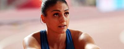 Häcklöparen Nooralotta Neziri i VM i Doha hösten 2019.