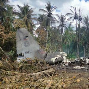 Filippinskt militärplan kraschade på ön Jolo.
