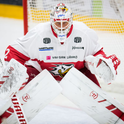 Niko Hovinen vaktar Sports mål.