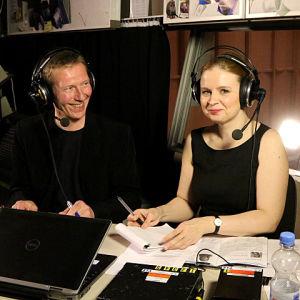 Pianisti Heikki Pellinen ja toimittaja Lotta Emanuelsson