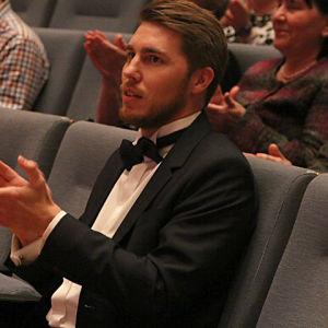Baritoni Aarne Pelkonen on juuri saanut tietää, että hän on voittanut Sibelius -laulukilpailut 2015.