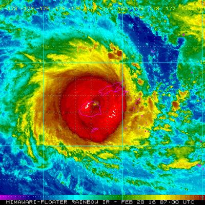Den tropiska cyklonen Winston har klassats som en kategori-5 cyklon. Winston väntas nå huvudön Vitu Levu i kväll finsk tid