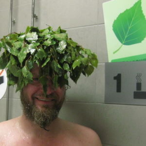 When I moved from Manse Härmälä Pirkanmaa here in Kymenlaakso area. My 1st apartment was no sauna. so what to do? I found a place to use my vihta during saunatime. MUST have koivuvihta in sauna! As my last name say: Koivu..  The place was local Swimming h