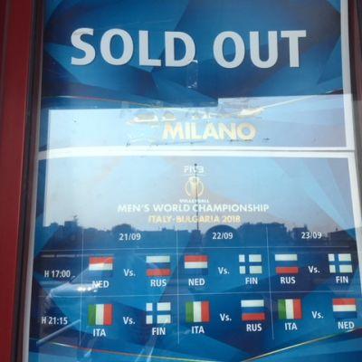 Pääsylippuja MM-lentopallon Milanon otteluihin ei ole myynnissä.