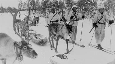 Poropartio Jäniskoskella 20.2.1940.