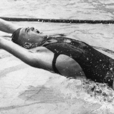 Adolph Kiefer Berliinin olympialaisissa.