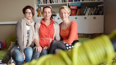 Anna Wiksten, Pi Kiviharju och Heidi Kiviharju bildar gruppen Soul sisters.