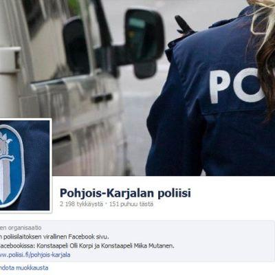 Pohjois-Karjalan poliisin Facebook-sivut
