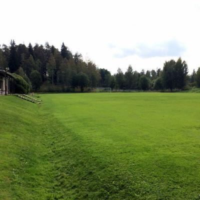 Rauhalahden jalkapallokenttä syyskuussa 2018.
