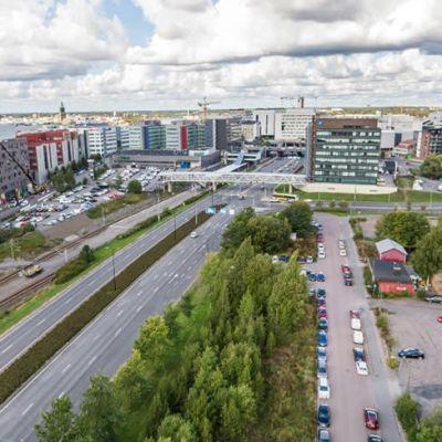Tiedepuiston kantta suunnitellaan Turun Kupittaan ja Itäharjun välille Helsinginkadun yläpuolelle.