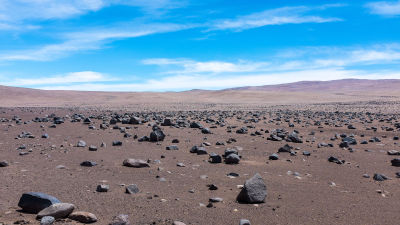 Atacamaöknen i Chile.