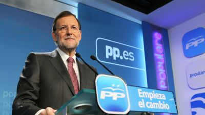 Partido Populars ledare Mariano Rajoy.