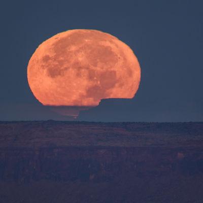 Supermåne i Utah, USA.