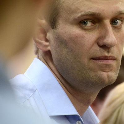 Aleksej Navalnyj under en av sina rättegångar.