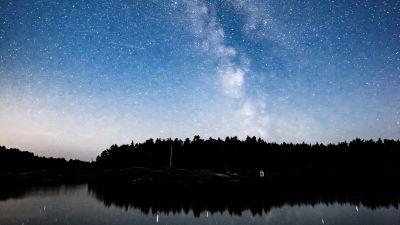Finländsk stjärnhimmel sommaren 2020.