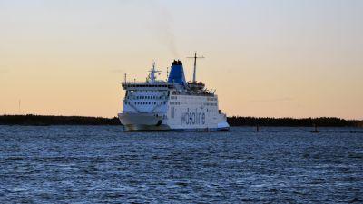 Wasa Express på väg in i Vasa hamn.