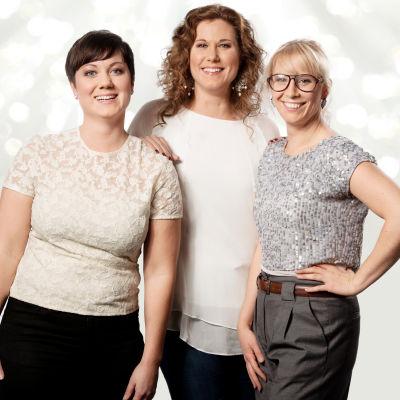 Ellen, Tina och Emily är tre av singlarna i tv-serien Gift vid första ögonkastet.