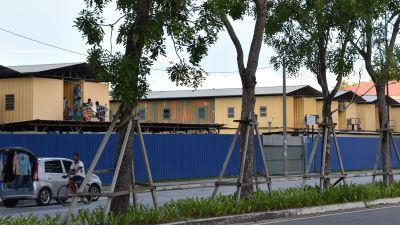 Plåtbaracker där gästarbatare bor i Malaysia