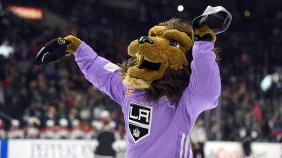 Bild på LA Kings maskot.