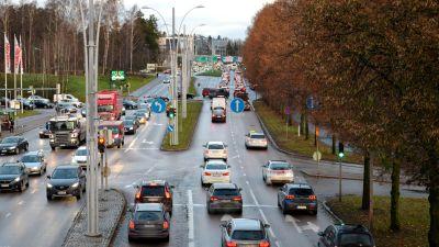 Korsningen av Hoplaxvägen och Åboleden.
