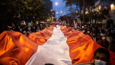 Stöddemonstration för Pedro Castillo.