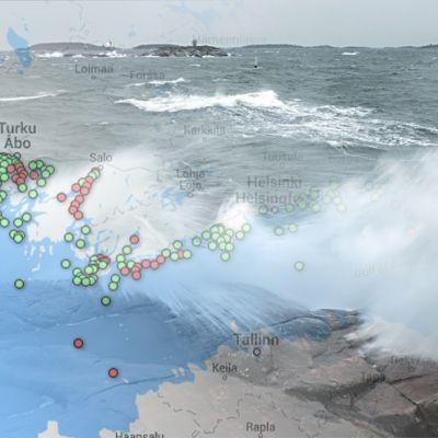 Saltvatten väller in över Östersjön